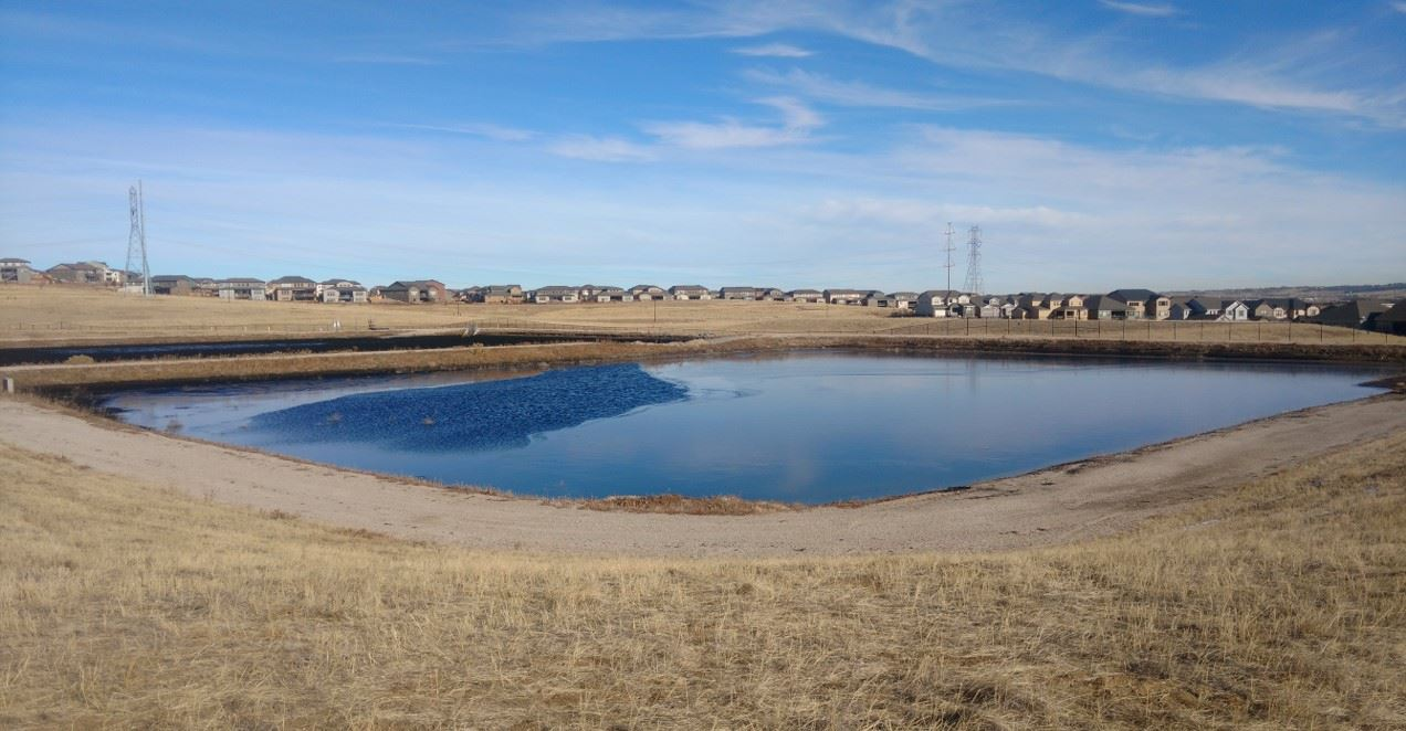 Residuals Pond at Reuter-Hess Water Purification Facility